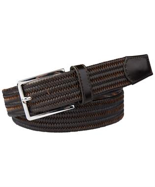 BELT BRAIDED BROWN