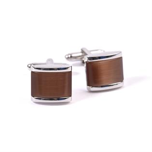 CUFFLINK BROWN CATSEYE