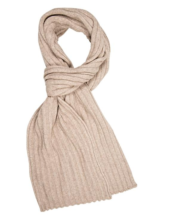 SCARF BEIGE SOLID